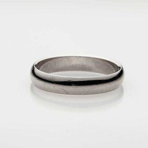 Estate $1800 5mm 18k White Gold Signed GUCCI Ring